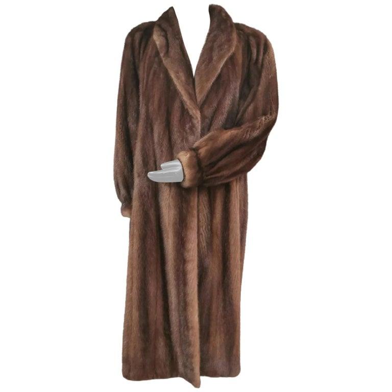 Givenchy Haute Fourrures Demi Buff Mink Fur Coat (Size 12 - M) For Sale