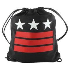 Givenchy Drawstring Backpack Printed Nylon Large