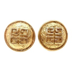 GIVENCHY Earrings Vintage 1980s Clip On