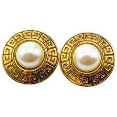 GIVENCHY Earrings Vintage 1980s for Pierced Ears