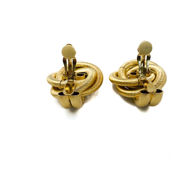 GIVENCHY Earrings Vintage 1980s For Sale 2
