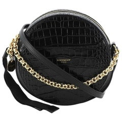 Givenchy Eden Round Crossbody Bag Crocodile Embossed Leather