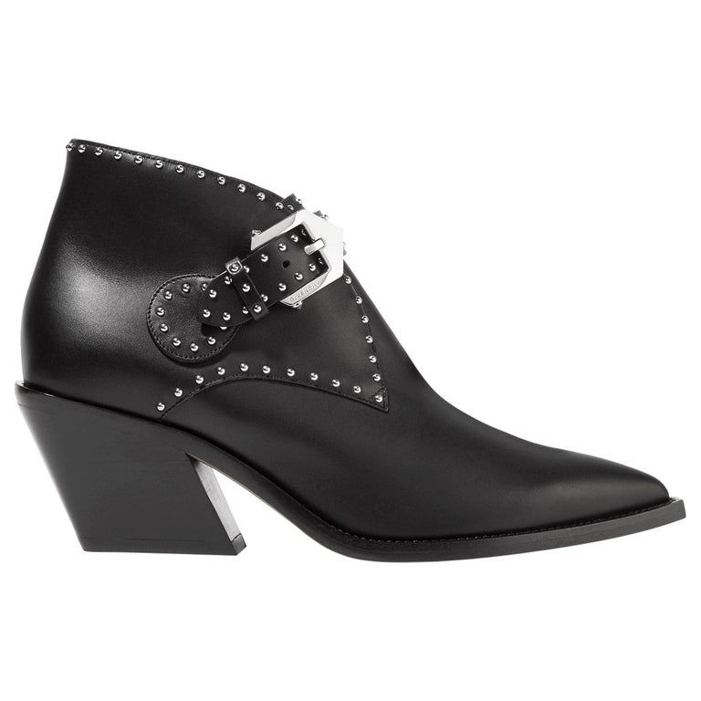 Givenchy Elegant Studded Leather Ankle Boots For Sale