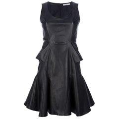 Givenchy Flared Leather Mini Dress
