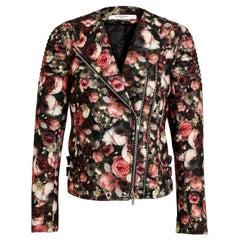 Givenchy Floral Felt-Wool Bomber Jacket