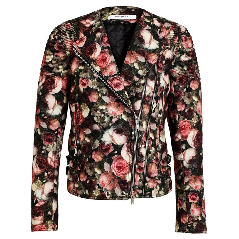 Givenchy Floral Felt-Wool Bomber Jacket  For Sale
