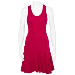 Givenchy Fuschia Pink Jersey Sleeveless Banded Fit & Flare Dress S