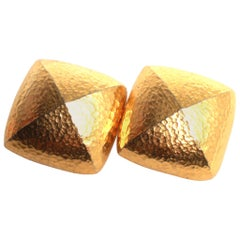 Givenchy gold clip on earrings