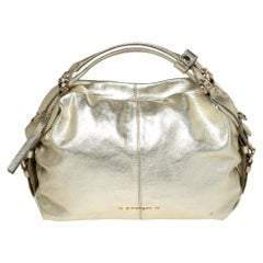 Givenchy Gold Leather Satchel