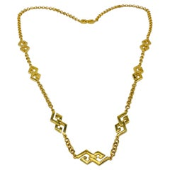 Givenchy Gold Plated Necklace Vintage, 1980s