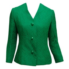 Givenchy Green Chevron Jacket
