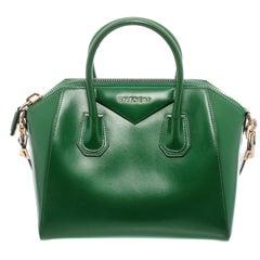 Givenchy Green Leather Small Antigona Satchel Bag