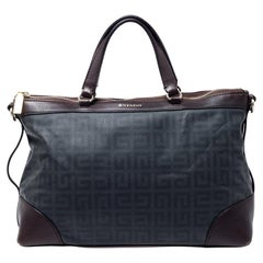 Givenchy Grey/Brown Coated Canvas and Leather Satchel