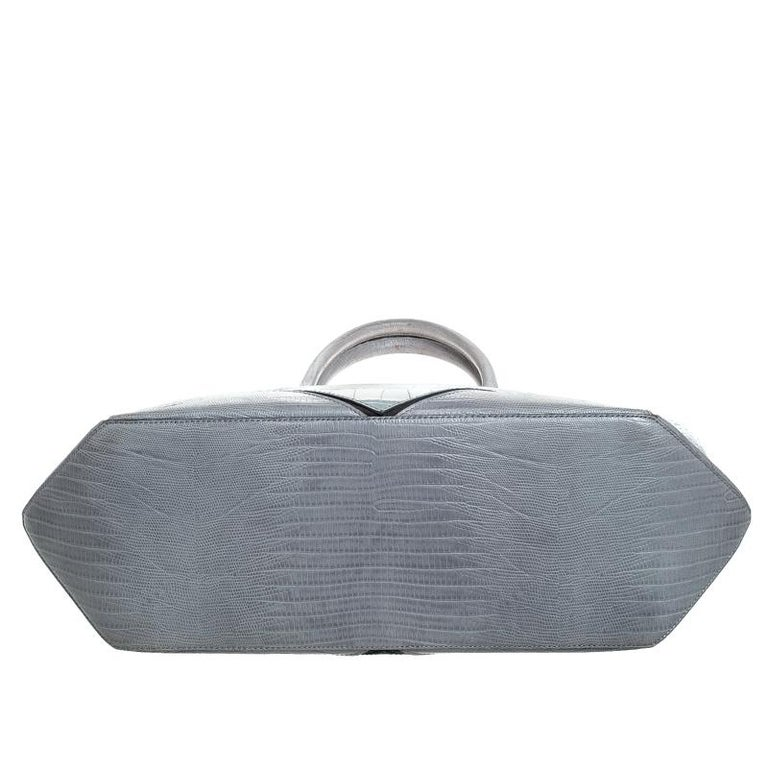 Women's Givenchy Grey Croc Embossed Leather Easy Tote