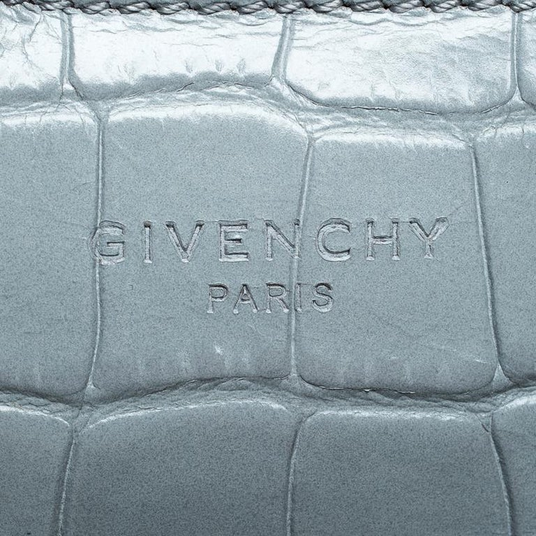 Givenchy Grey Croc Embossed Leather Easy Tote 3