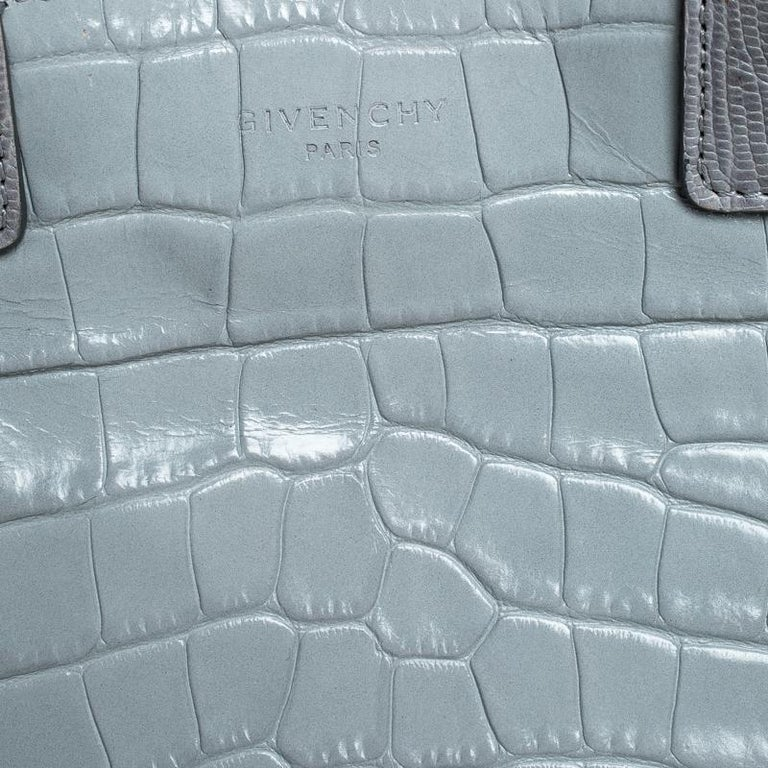 Givenchy Grey Croc Embossed Leather Easy Tote 4