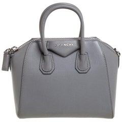Givenchy Grey Leather Mini Antigona Satchel