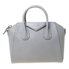 Givenchy Grey Leather Small Antigona Satchel