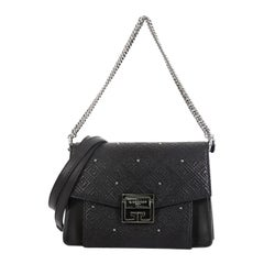 Givenchy GV3 Flap Bag Studded Embroidered Lambskin Small