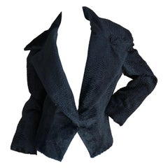 Givenchy Haute Couture Cropped Faux Broadtail Jacket