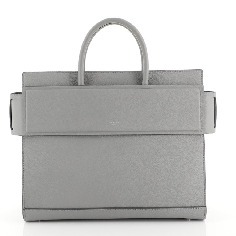 Givenchy Horizon Satchel Leather Medium In Good Condition For Sale In New York, NY