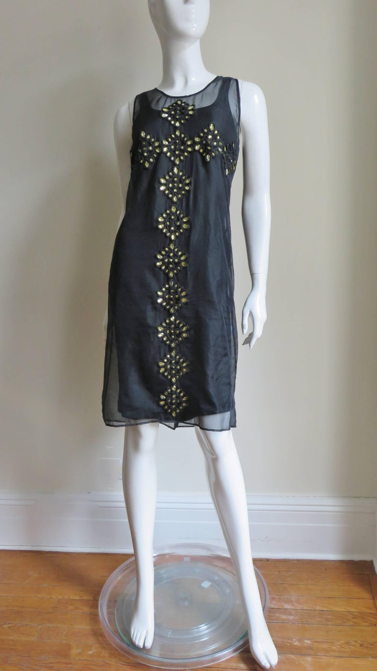 Givenchy Jewelled Organza Dress For Sale 4