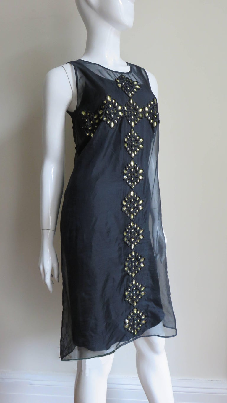 Givenchy Jewelled Organza Dress For Sale 5