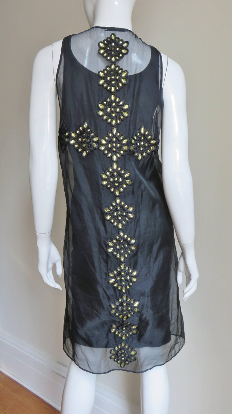 Givenchy Jewelled Organza Dress For Sale 6