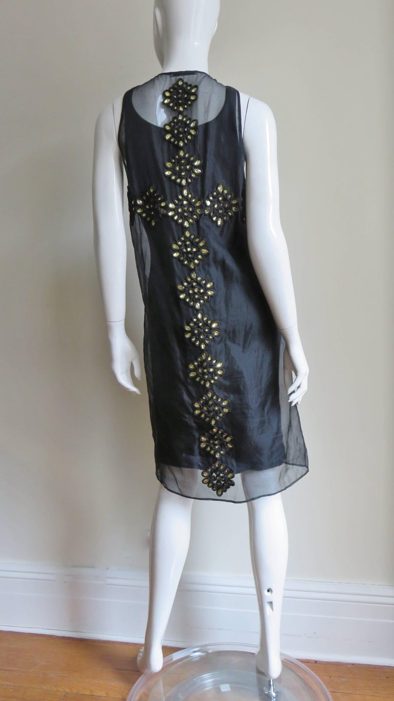 Givenchy Jewelled Organza Dress For Sale 9