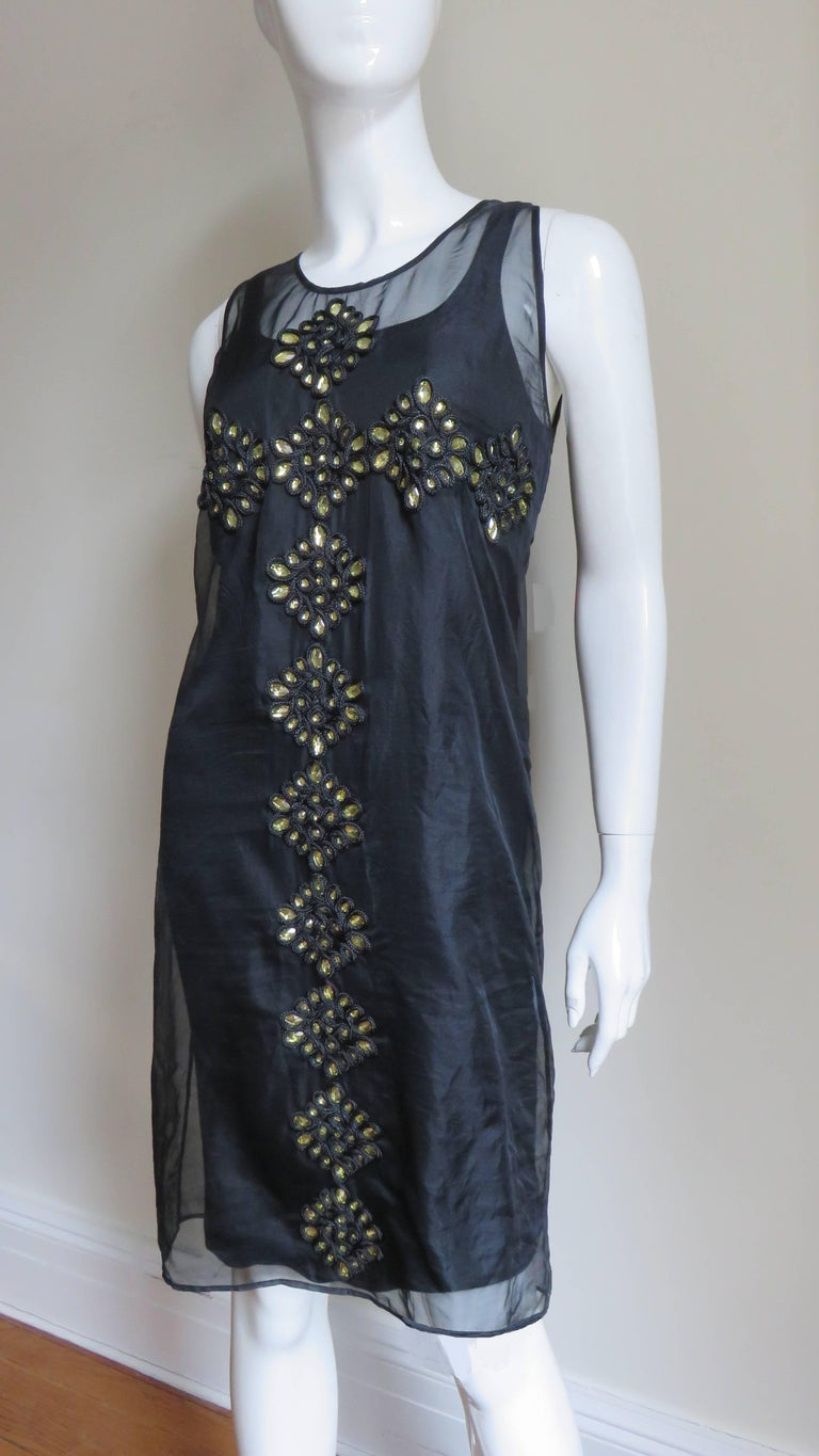 Givenchy Jewelled Organza Dress For Sale 1