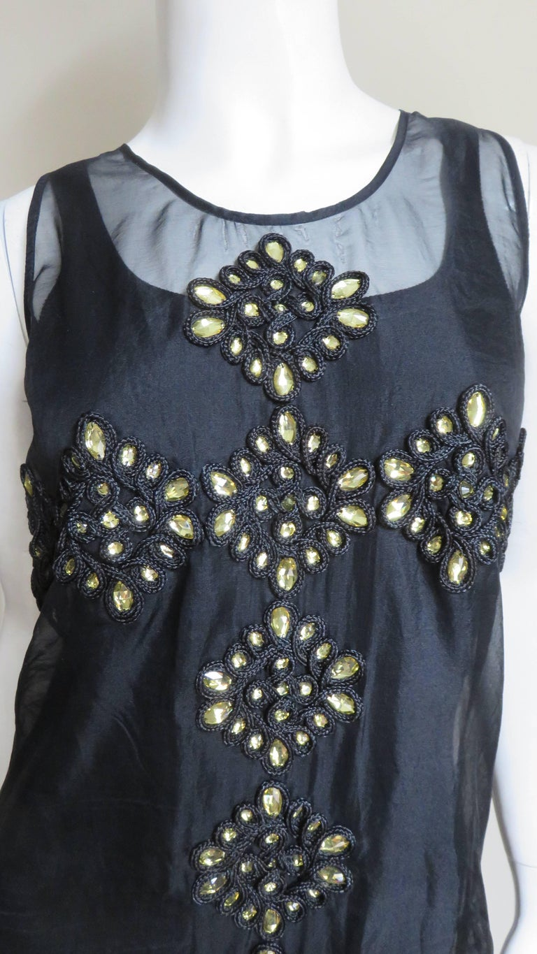 Black Givenchy Jewelled Organza Dress For Sale