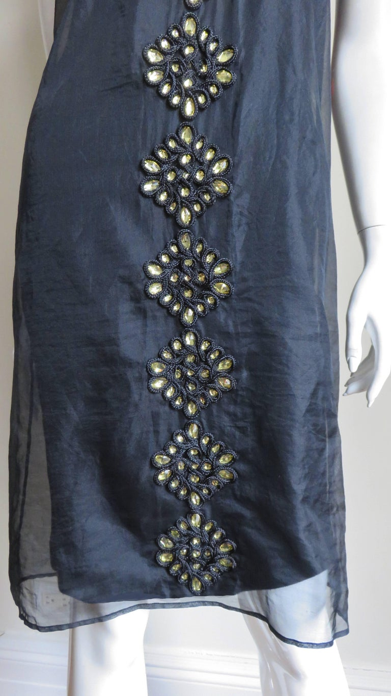 Givenchy Jewelled Organza Dress In Good Condition For Sale In Watermill, NY