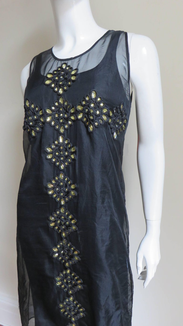 Women's Givenchy Jewelled Organza Dress For Sale