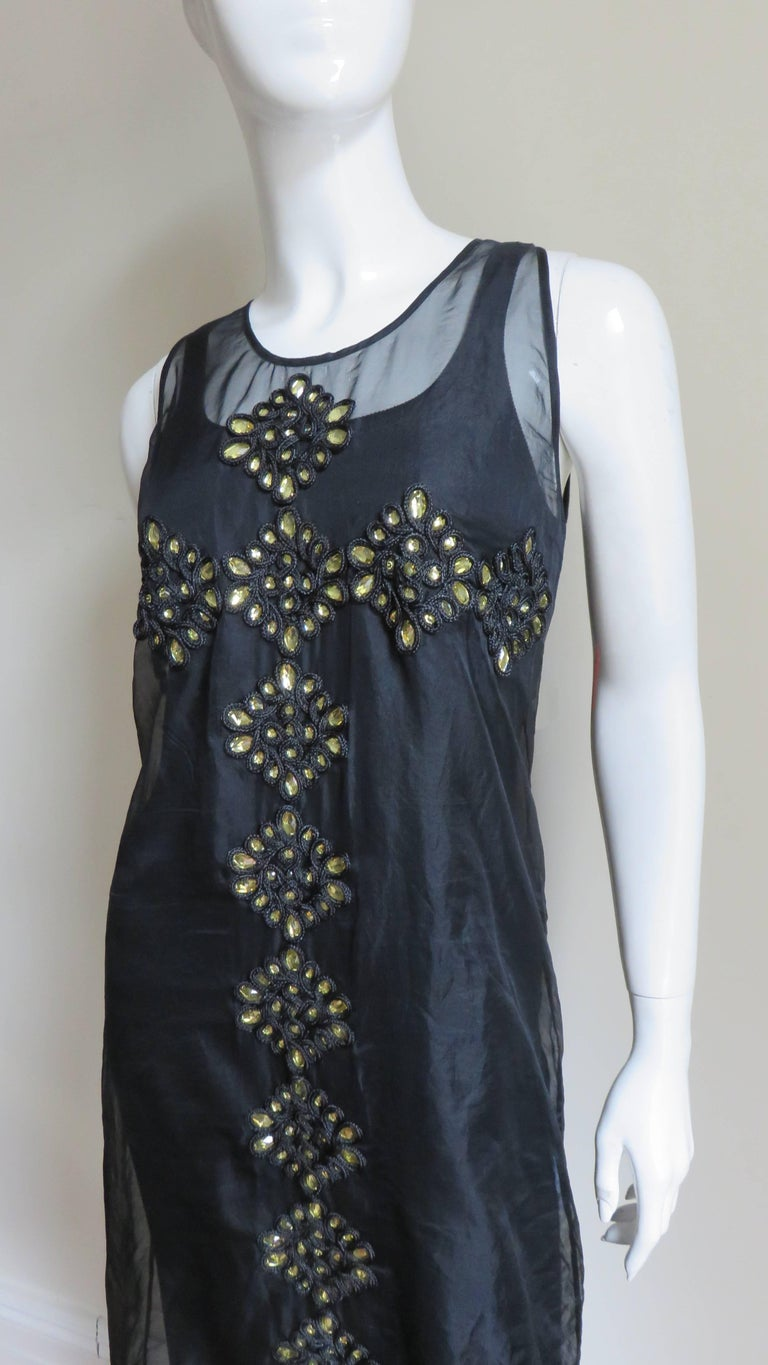 Givenchy Jewelled Organza Dress For Sale 2