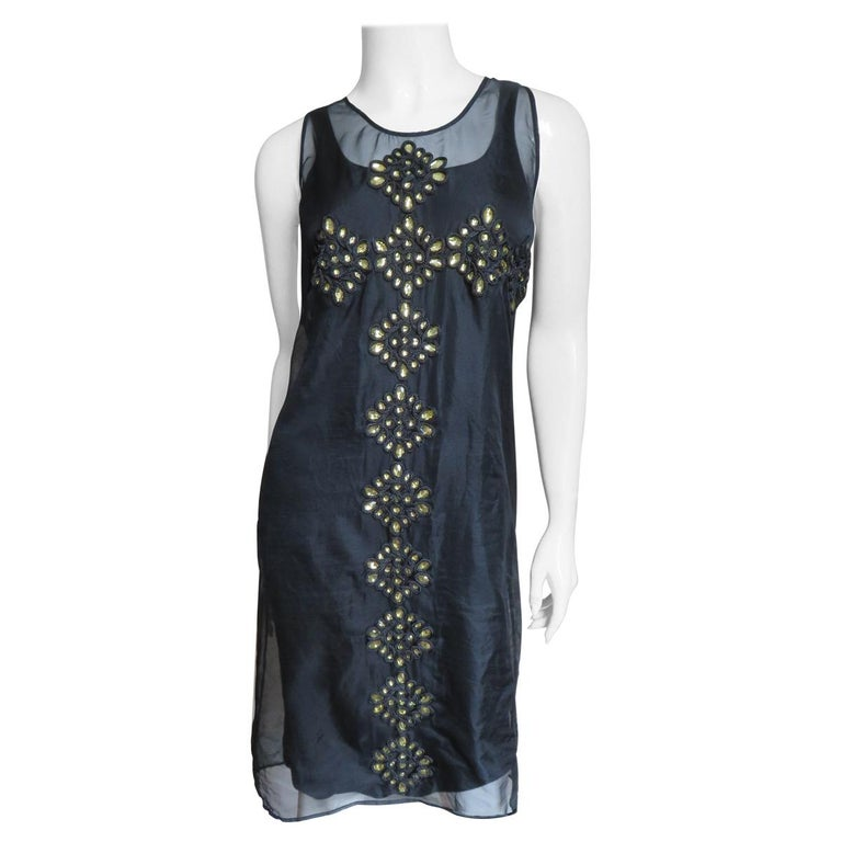 Givenchy Jewelled Organza Dress For Sale