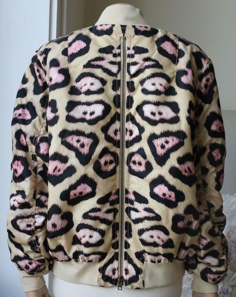 Givenchy Leopard-Print Padded Bomber Jacket In Excellent Condition For Sale In London, GB