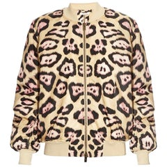 Givenchy Leopard-Print Padded Bomber Jacket