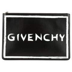 Givenchy Logo Pouch Printed Leather Large