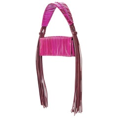 Givenchy Magenta Eel Skin Leather Fringe Shoulder bag, 2009