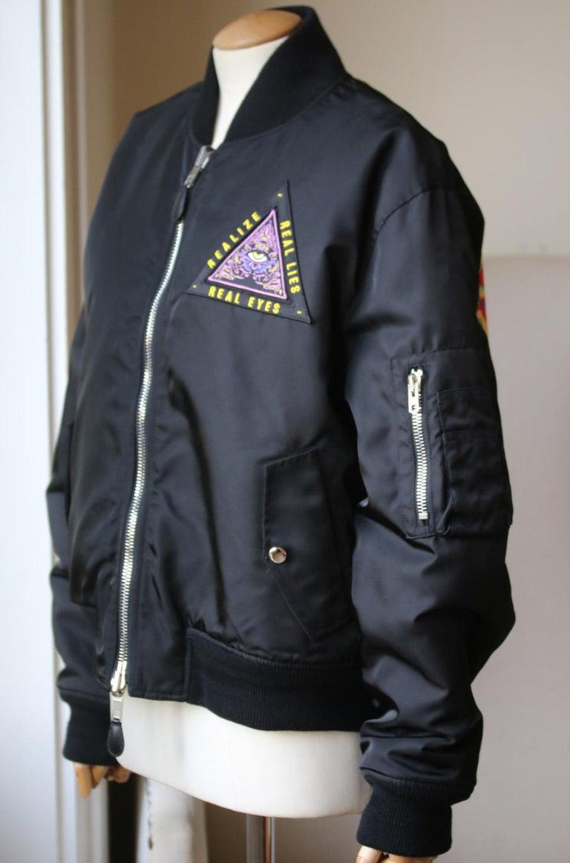 Black Givenchy Mandala Patch Reversible Bomber Jacket  For Sale