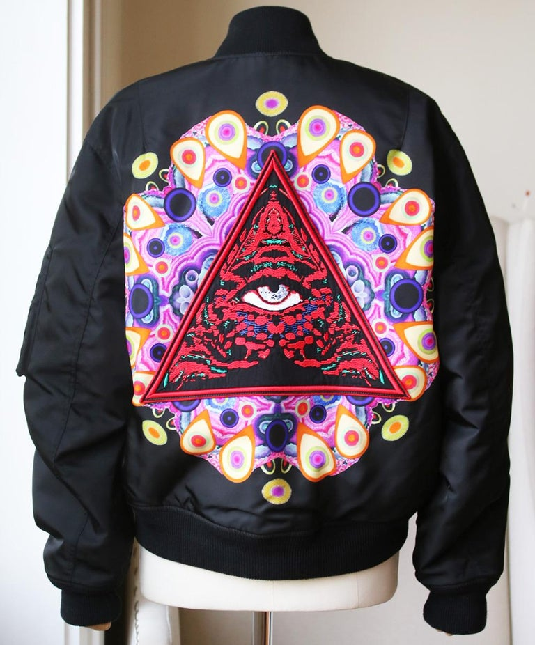 Givenchy Mandala Patch Reversible Bomber Jacket  In Excellent Condition For Sale In London, GB