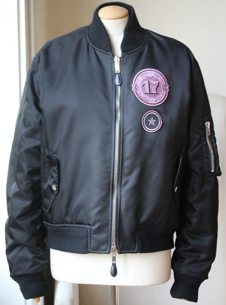 Women's Givenchy Mandala Patch Reversible Bomber Jacket  For Sale