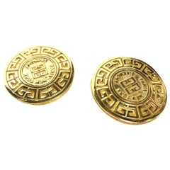 GIVENCHY Medallion Logo Earrings