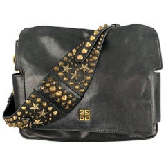 GIVENCHY Melancholia Resort 2010 Black Leather Studded Strap Handbag