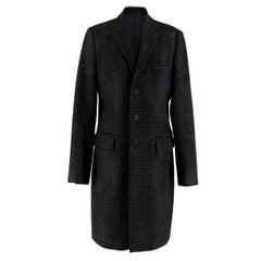 Givenchy Men's Tweed Print Single Breasted Wool Coat  IT 48