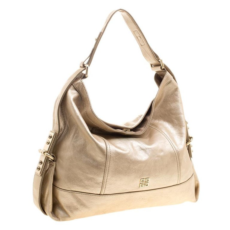 Women's Givenchy Metallic Gold Leather Hobo For Sale