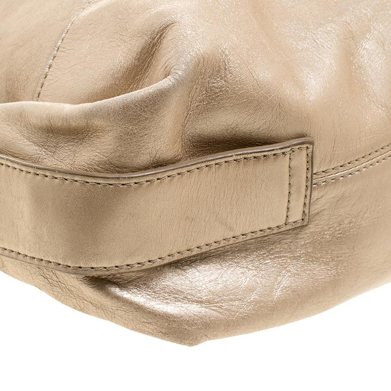 Givenchy Metallic Gold Leather Hobo For Sale 5