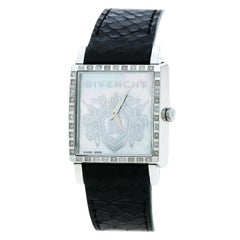 Givenchy Mother of Pearl Stainless Steel Diamonds GV5214L Women's Wristwatch 31