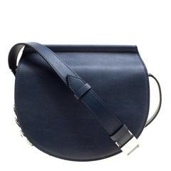 Givenchy Navy Blue Leather Mini Infinity Saddle Bag