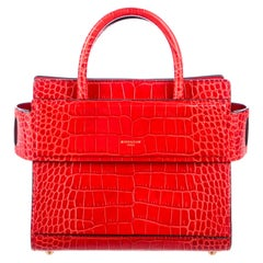 Givenchy NEW Red Alligator Exotic Small Mini Top Handle Satchel Shoulder Bag